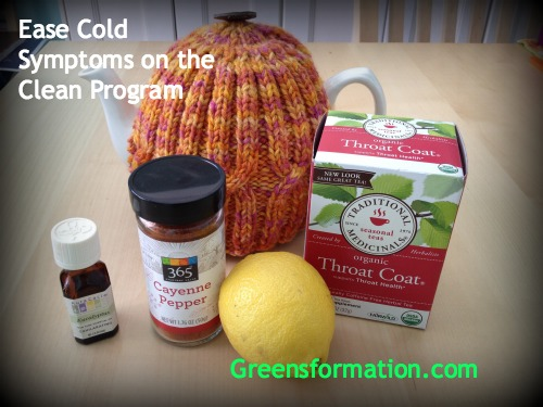 Ease Cold Symptoms on the Clean Program