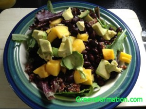 Quinoa, Black Bean, Mango, and Avocado Salad