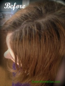 My Hair Before Madison Reed Side