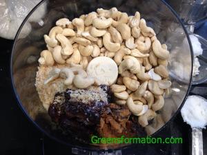 Coconut, Date, Nut Bars ingredients
